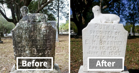Man Spends His One Day Off Cleaning Forgotten Veterans' Tombston