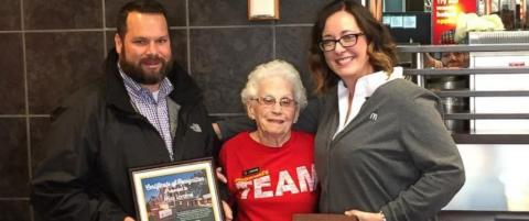 94-year-old woman celebrates 44 years working at McDonald's - ABC News