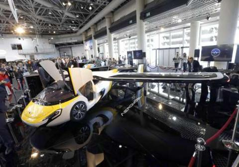 Flying cars take off on French Riviera