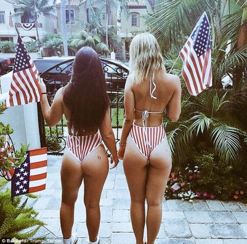 Babes For Trump Twitter page tries to Make America Great Again with photos of scantily clad women promoting the GOP frontrunner | Daily Mail Online