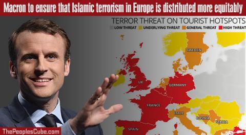 Macron pledges to redistribute EU terror attacks fairly